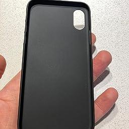 EONO Essentials Cover iPhone XS/iPhone X Custodia Rigida Nero in