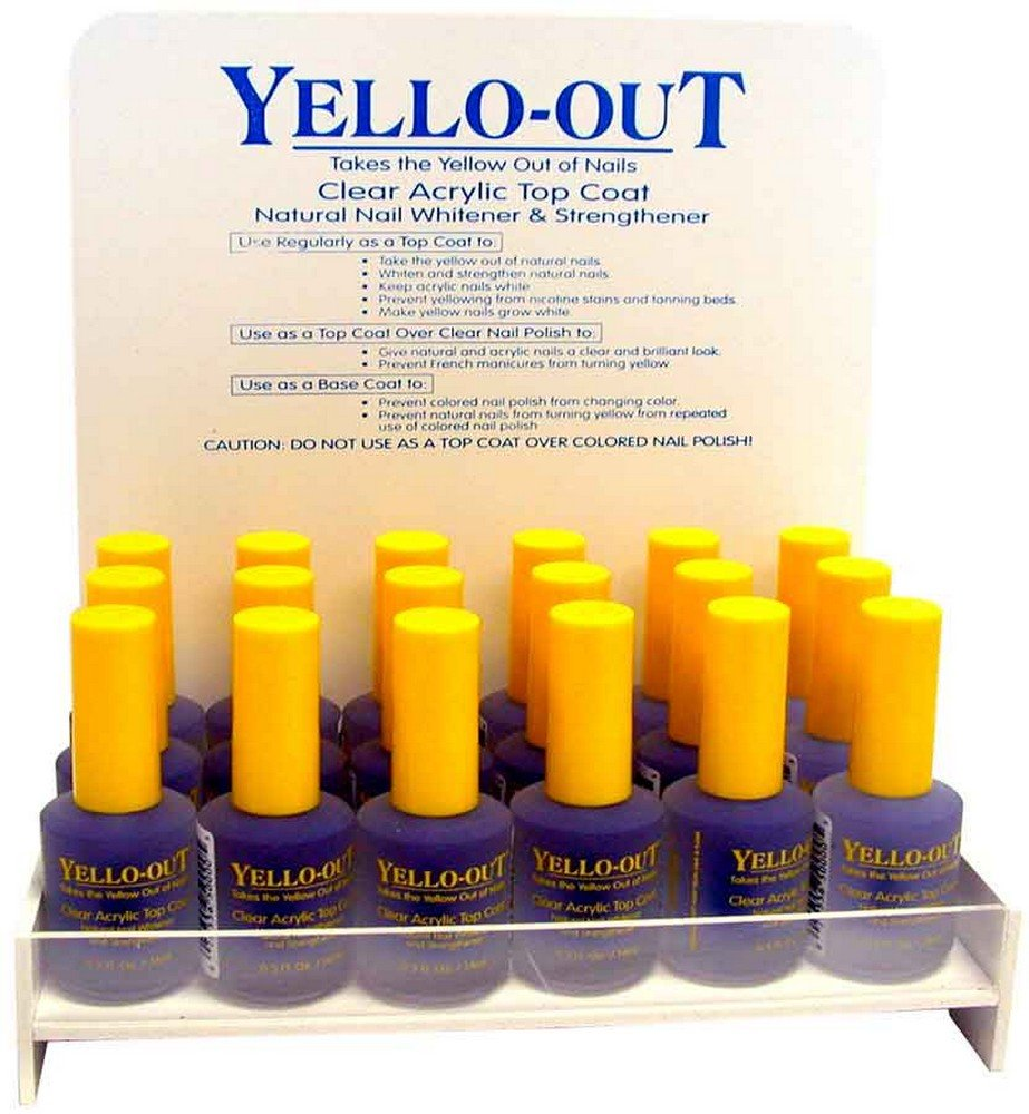 Yellow Out Clear Acrylic Top Coat 0.5oz by Yello-Out