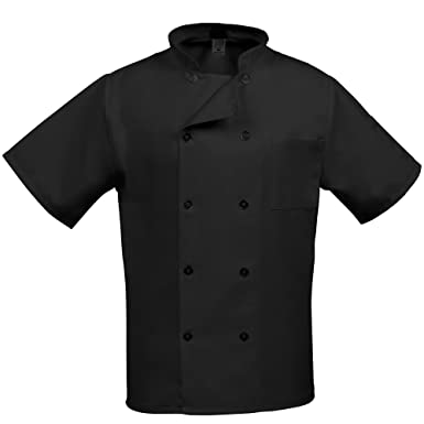 Amazon.com: Fame Adult's Short Sleeve Chef coat: Chefs Jackets ...