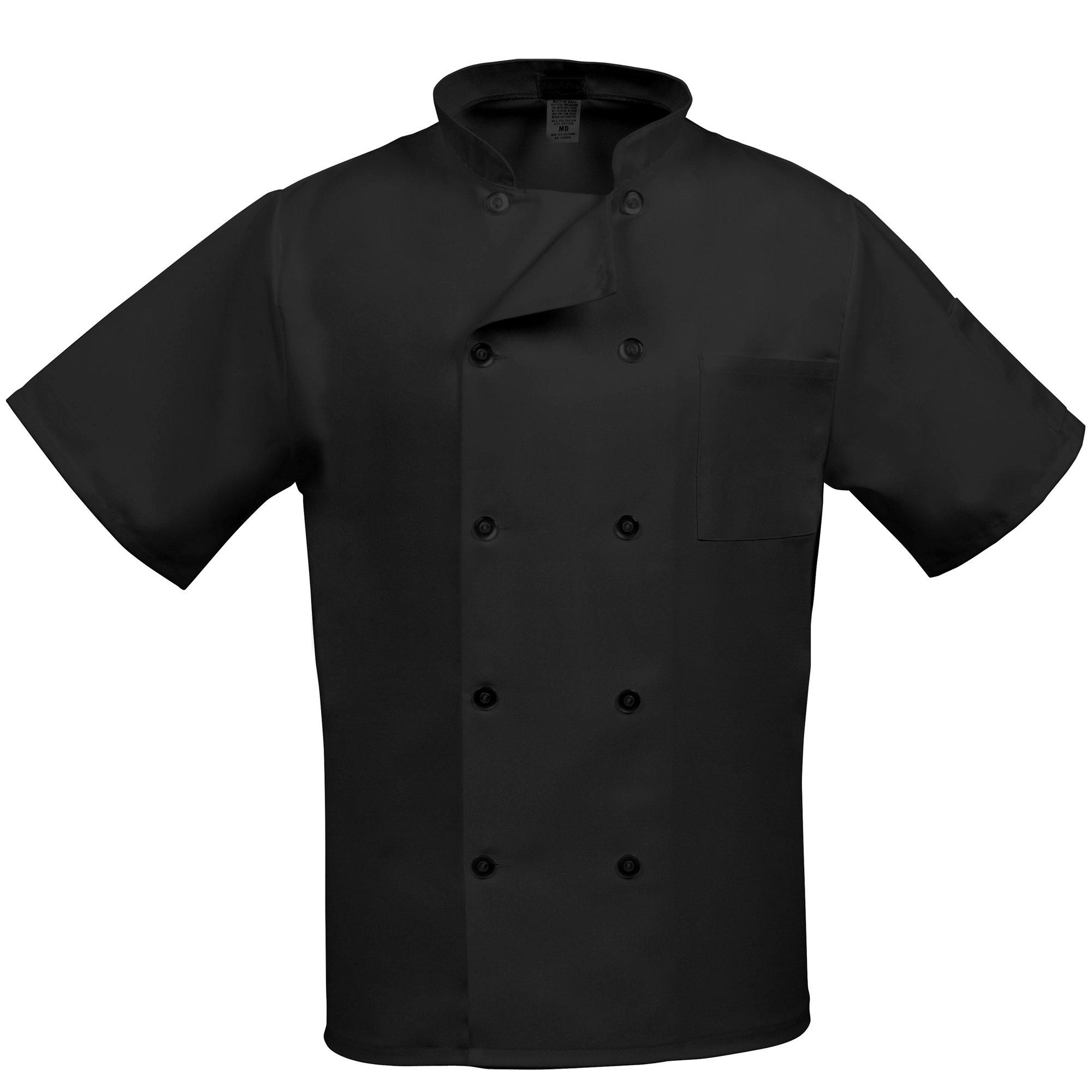 Fame Adult's Short Sleeve Chef coat -Black-XL