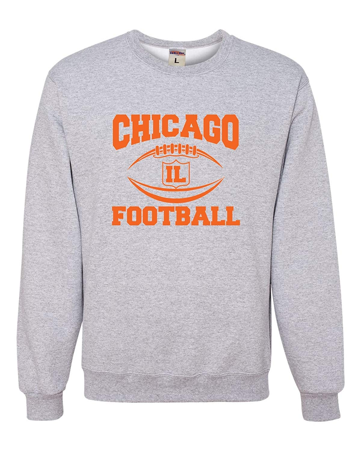 Go All Out Adult City of Chicago Illinois Football Sweatshirt Crewneck