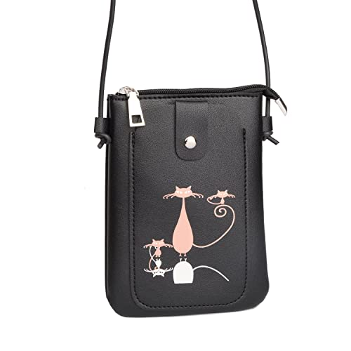 12d8eaee5b9b Nawoshow Cute Cat Pattern Coin Purse Shoulder Bag Purse Small Crossbody  Satchel handbags for Kids Girls