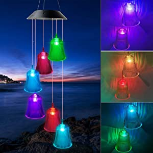 ShangTianFeng Christmas Bells Solar Wind Chimes Outdoor Gardening Gifts for mom Unique Birthday Gifts for Women who has Everything Mother Gifts Gifts for Girlfriend Valentine Gifts for Wife