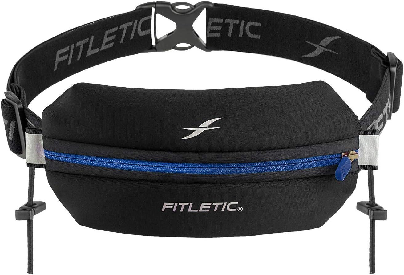 Fitletic Neo Race Belt   Unique No Bounce Design for Marathon, Triathlon, Trail, 5k, 10k   Single Pounch N01R Neo