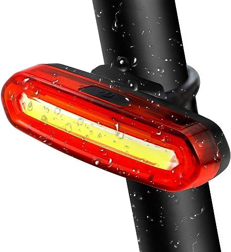 Dewanxin Luz Trasera para Bicicleta Recargable USB, Super Brillante Rojo Luz Bici de 120 Lúmenes, Impermeable, 240 ° Faro Trasero Bici para Máxima Seguridad de Ciclismo: Amazon.es: Deportes y aire libre