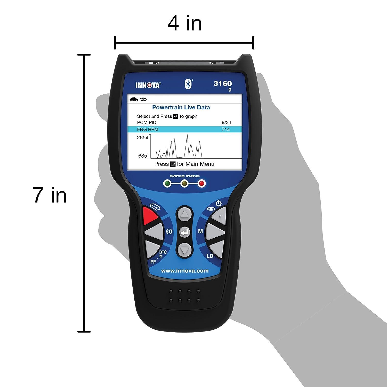 Innova 3160 herramienta de análisis de diagnóstico con ABS/SRS y Live Data OBD2 para vehículos: Amazon.es: Coche y moto