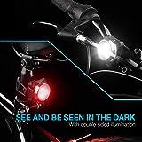 Vont Bike Light Set, USB Rechargeable Super