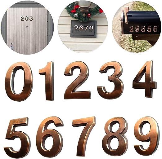 Engraved Plastic Apartment Floor Number Sign three 3 Self Adhesive