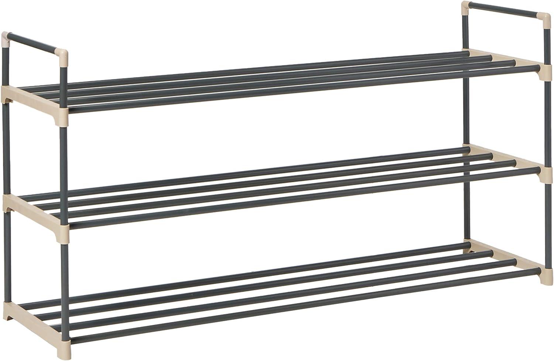 Free Standing New 3 x Basic Solid Wood 2 Shelf Stacking Shoe Racks