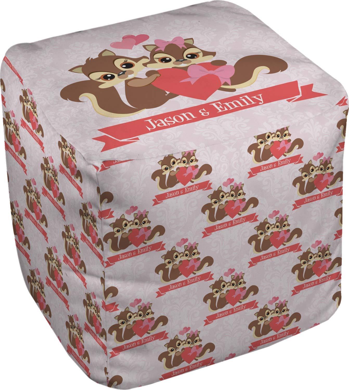 RNK Shops Chipmunk Couple Cube Pouf Ottoman - 13'' (Personalized)
