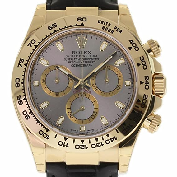 Rolex Daytona 116518 Swiss-Automatic - Reloj Masculino (Certificado de autenticidad)