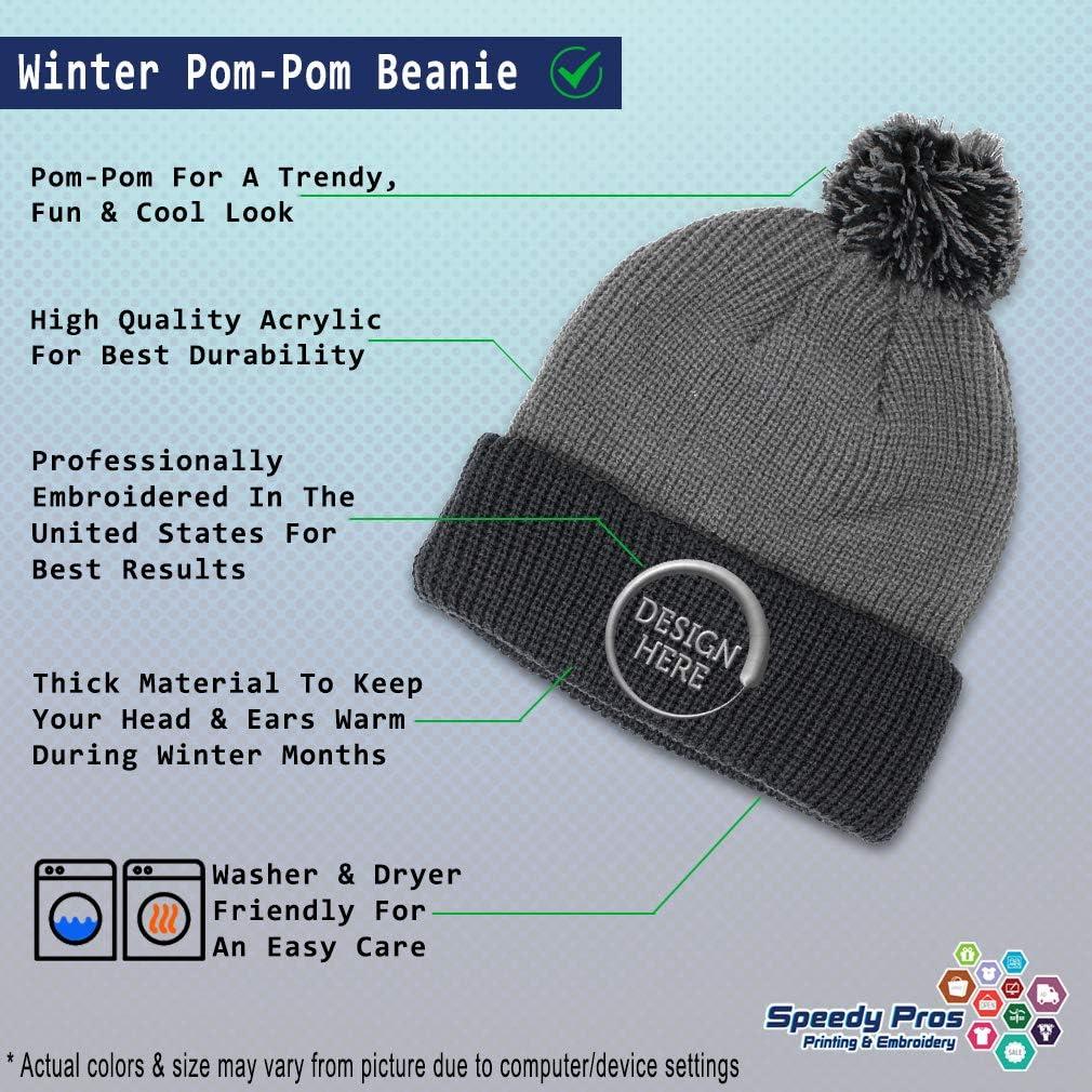 Speedy Pros Winter Pom Pom Beanie Men /& Women Retired Postal Worker Mailman A Embroidery
