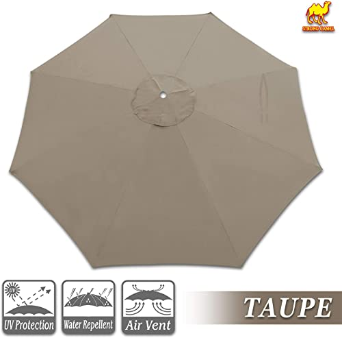 Strong Camel Replacement Umbrella Canopy for 10ft 8 Ribs in Taupe Color Canopy Only