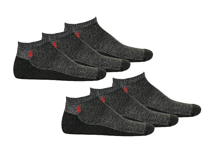 Polo Ralph Lauren Calcetines de Hombre, Paquete de 6 - Talla única, gris: Amazon.es: Ropa y accesorios