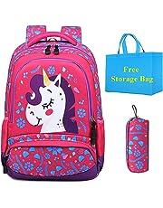 6ab6d1d4c Mochila Escolar Chica Unicornio Linda Bolso 3 en 1 Casual Backpack Set de  Mochilas para Niñas