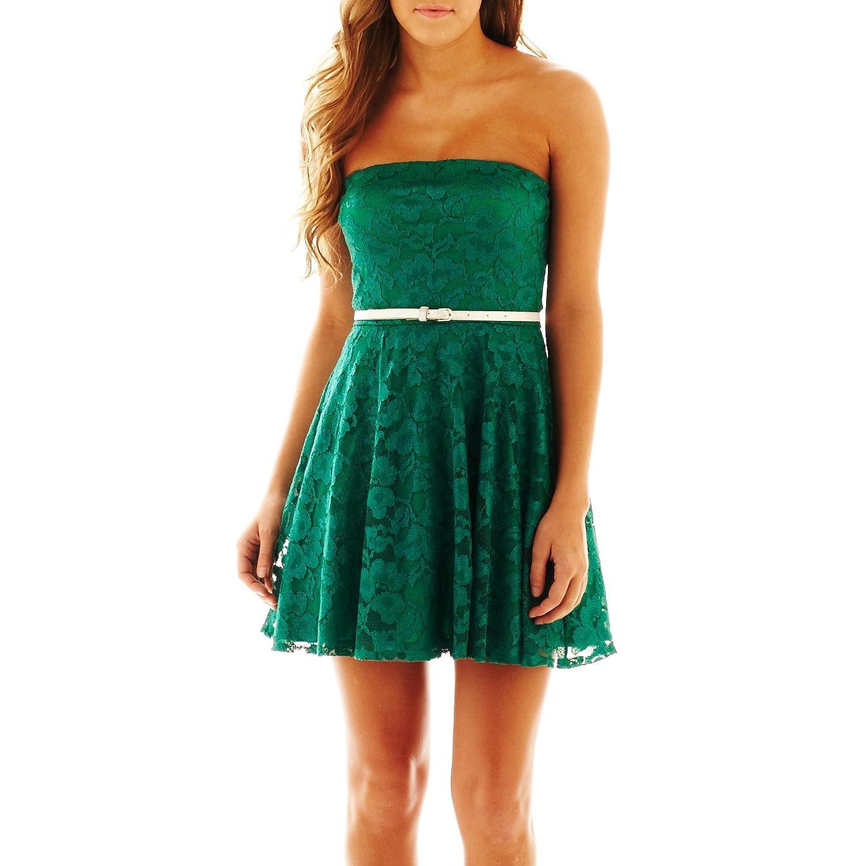 Woman's Love Reigns Emerald Iridescent-Lace Dress Size L