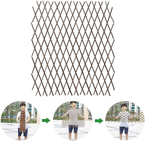 HizoeChu - Valla de madera para jardín de madera duradera, extensible, para plantas trepadoras, celosías, vallas, soporte para plantas trepadoras, vegetales: Amazon.es: Hogar