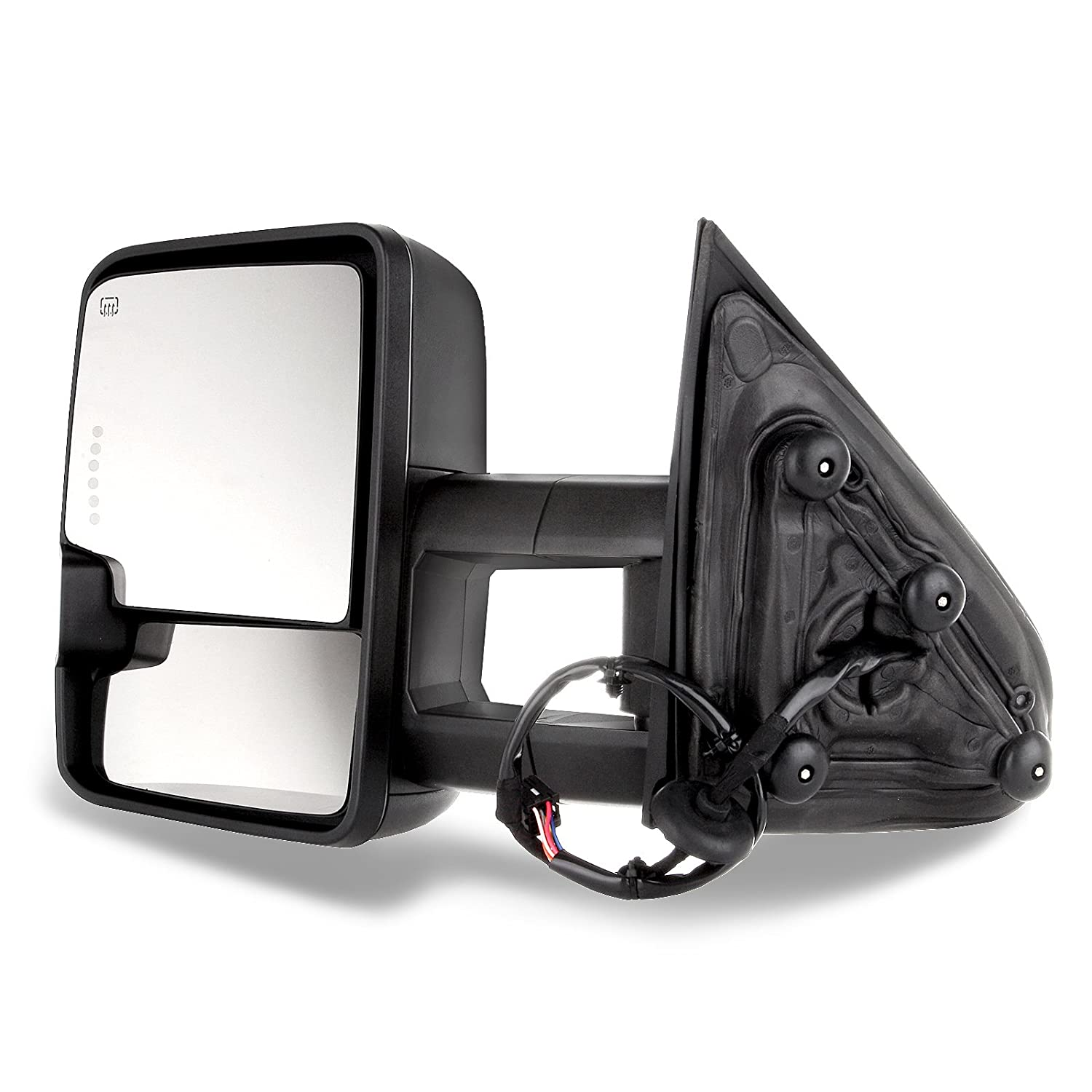 SCITOO for Chevy GMC Towing Mirrors Black Rear View Mirrors for 2014-2018 Chevy Silverado//GMC Sierra 1500 2015-2018 Chevy Silverado//GMC Sierra/2500 HD 3500HD with Power Heated Signal Backup Light 050964-5206-1659474024