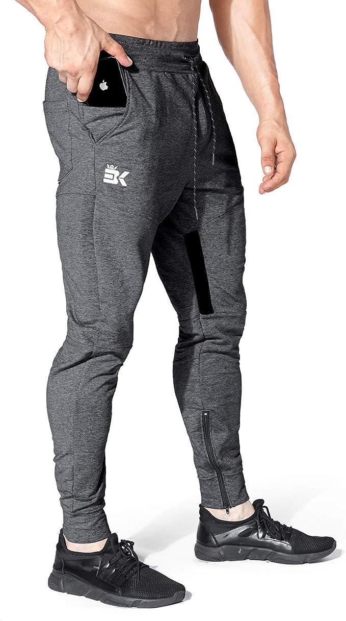 BROKIG - Pantalones de chándal para Hombre, Ajustados ...