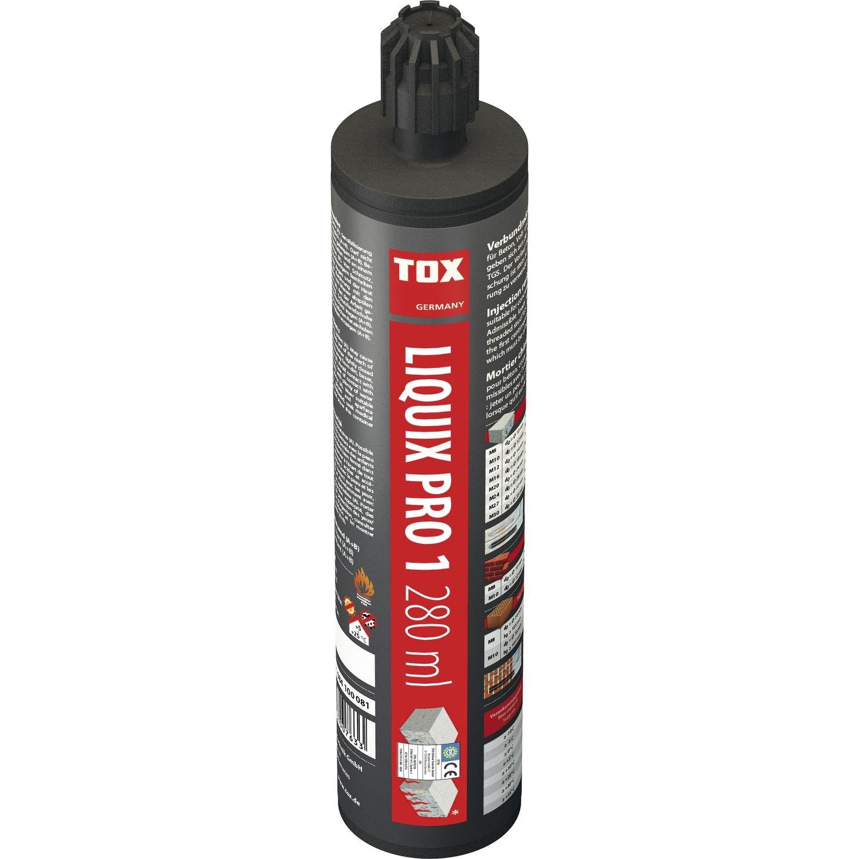 Tox Verbundmö rtel, Liquix Pro 1 styrolfrei, 1 Kartusche, 280 ml, inkl. 2 Statikmischer,  084100081