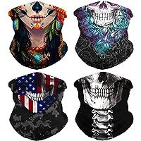Skull Face Mask Seamless Bandana for Men Women Dust Wind Neck Gaiter,Tube Mask Headwear, Scarf for Outdoors