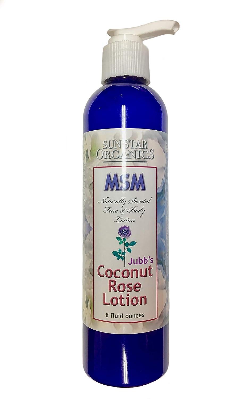 Sun Star Organics - Naturally Scented, Coconut Rose MSM Lotion - 8 fl oz