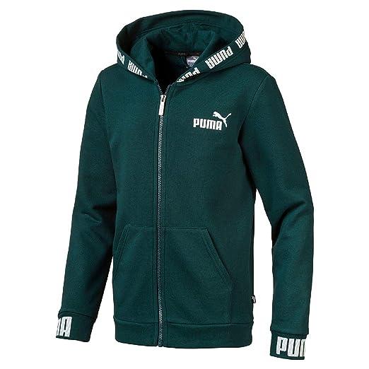 Details zu PUMA Sweatshirt Jacke Sweatjacke Gr. 152 Pullover Jungen Blau Weiß