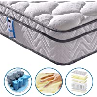 Vesgantti 10.2 Inch Multilayer Hybrid Twin Mattress - Multiple Sizes & Styles Available, Ergonomic Design with Breathable Foam and Pocket Spring/Medium Plush Feel