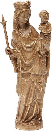 Madonna bimbo scettro 25 cm stile gotico legno patinato