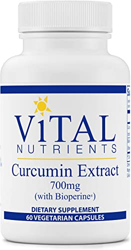 Vital Nutrients – Curcumin Extract with Bioperine – Nutritional Support for Normal Tissue Health – 60 Capsules per Bottle – 700 mg