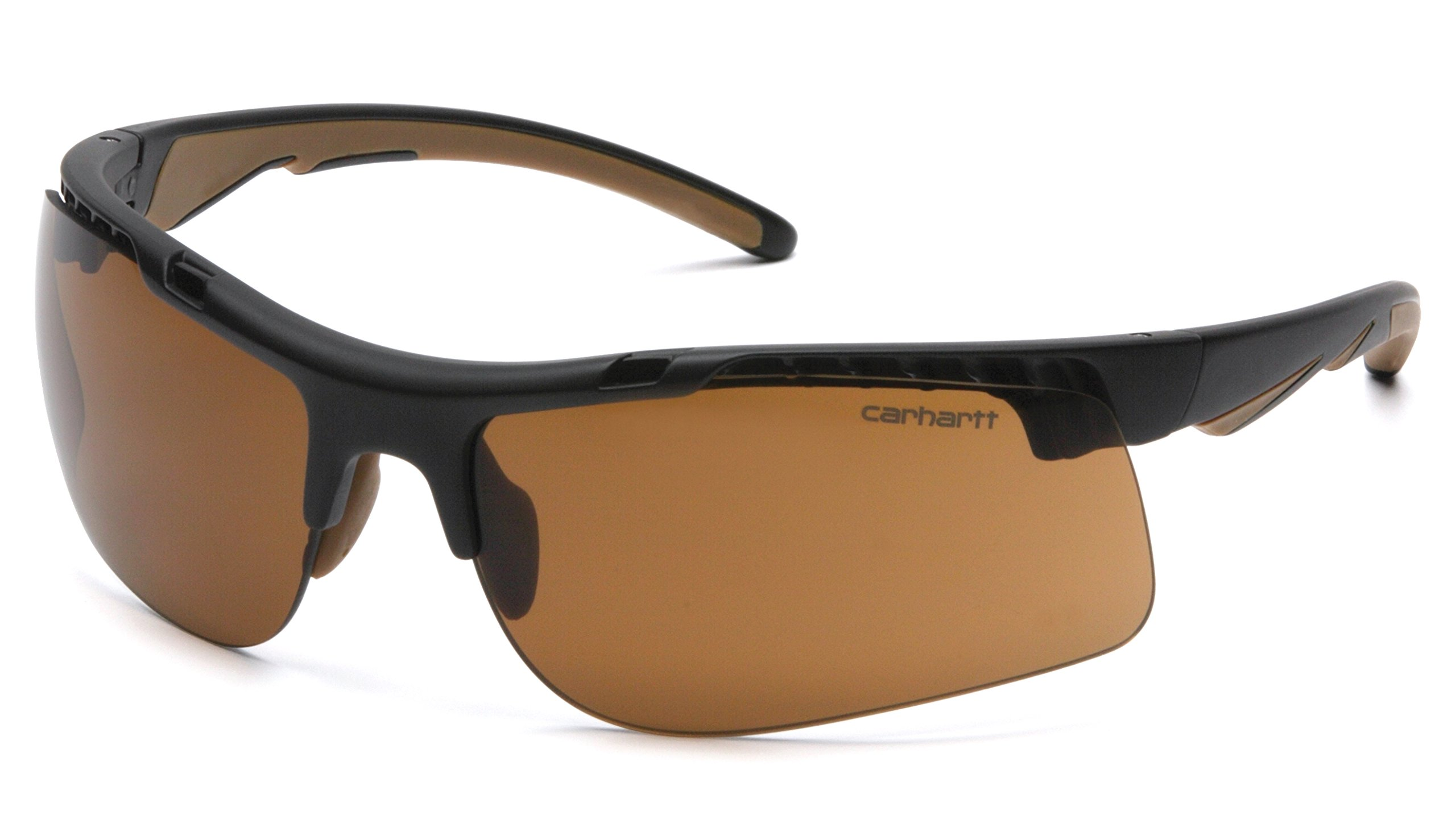 Carhartt Rockwood Safety Sunglasses with Sandstone Bronze Anti-fog Lens