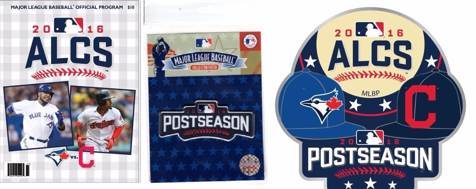 2016 ALCS GAME PROGRAM POST SEASON PATCH & DUELING PIN