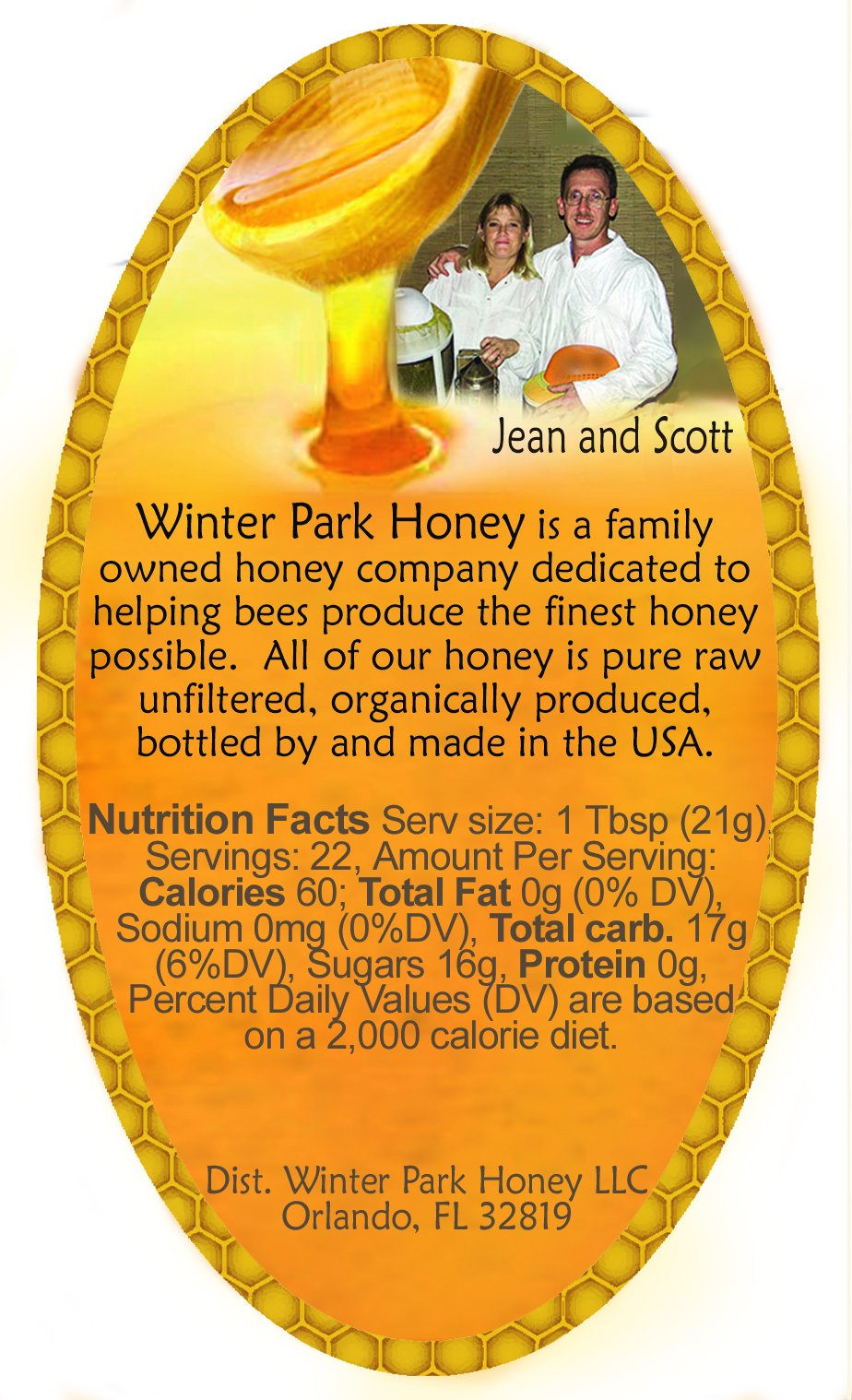 Winter Park Honey Sampler - 128oz (Pure Natural Honey)