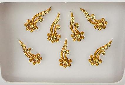 BB211 - Pegatina de tatuaje para boda, diseño indio, color dorado ...