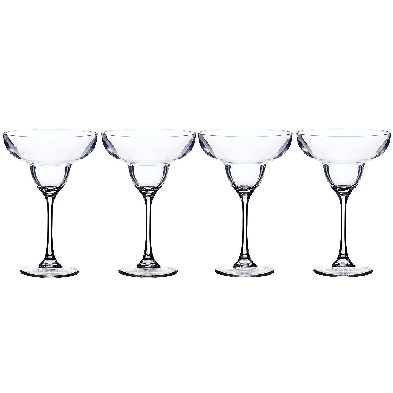 BarCraft Plastic Margarita Cocktail Glasses, 250 ml (9 fl oz) (Set of 4) KitchenCraft AMZBCPLMARGSET