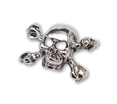 Amazon.com: Chaqueta de calavera gótica de metal auténtico ...