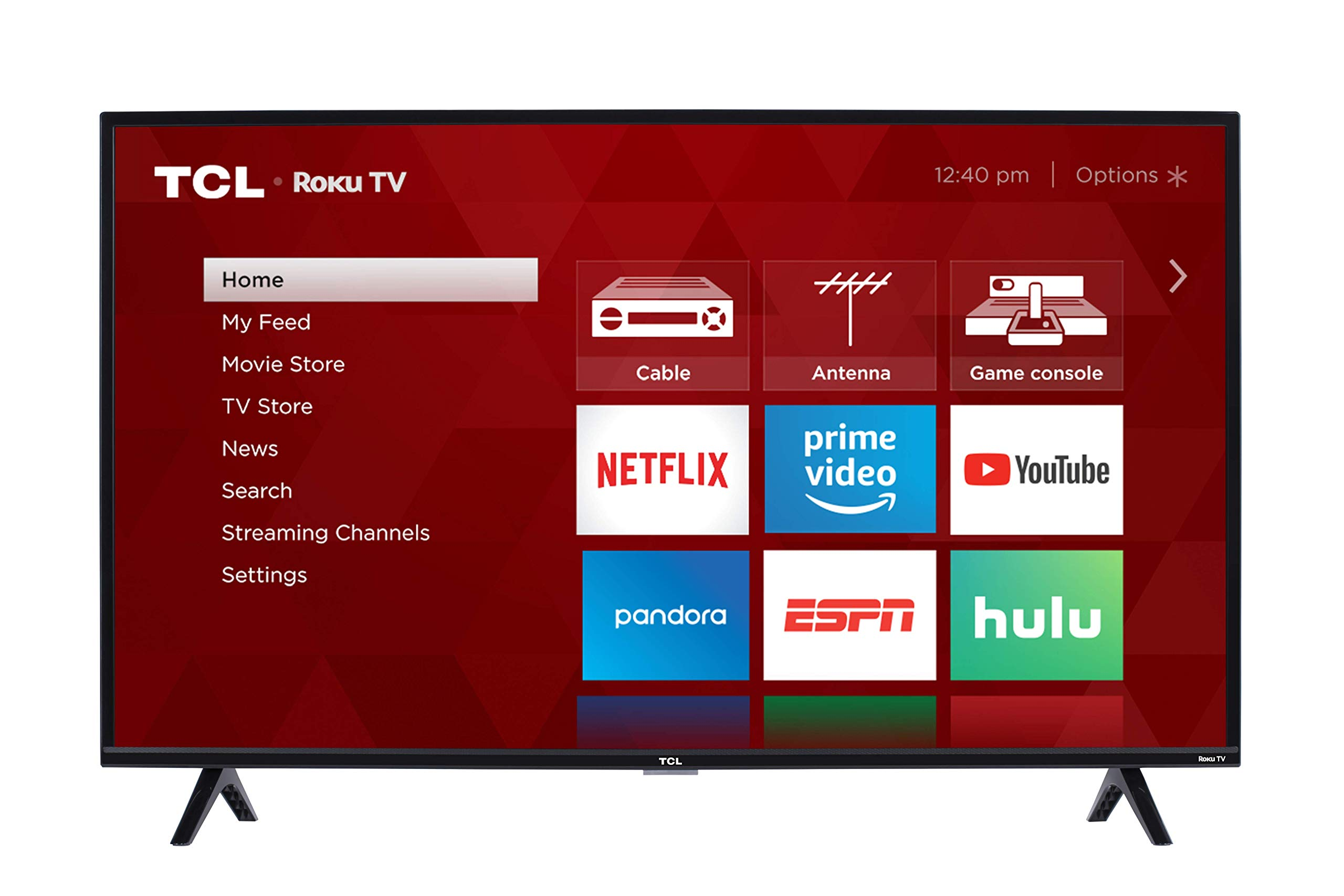 TCL 40-inch 1080p Smart LED Roku TV - 40S325, 2019 Model