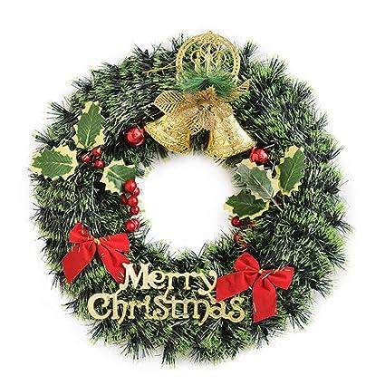 Amazoncom Baidercor 16 Christmas Wreath Merry Christmas Door