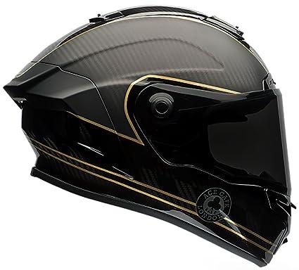 0fe08e19 Amazon.com: Bell Race Star Full-Face Motorcycle Helmet (Ace Cafe Speed  Check Matte Black/Gold, Medium): Automotive