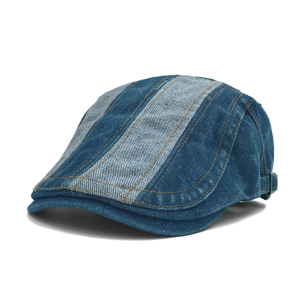 915b1e725c3 lethmik Denim Flat Cap Newsboy Ivy Irish Hats Jean Cabbie Scally Cap ...
