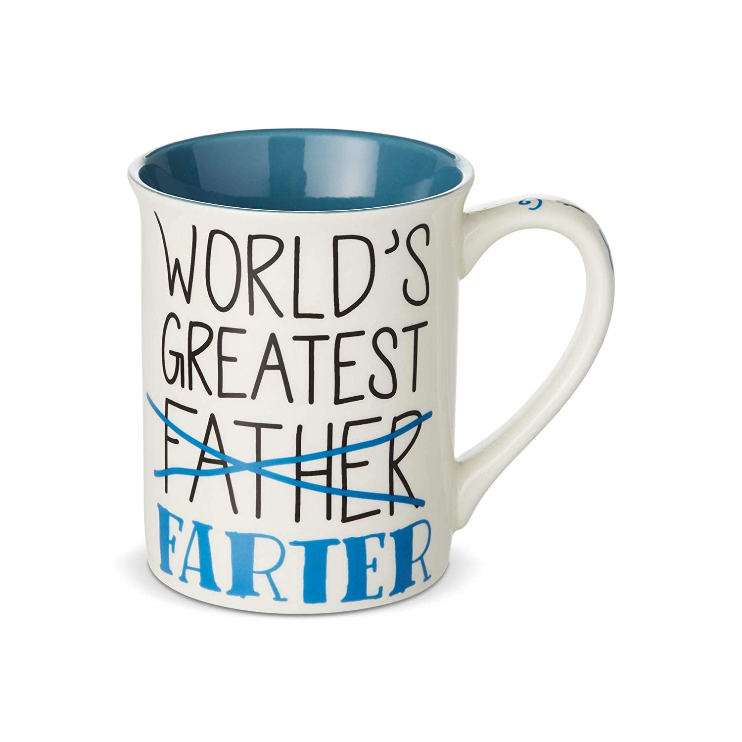 16 oz. Enesco 6003383 Our Name is Mud Worlds Greatest Farter Father Coffee Mug