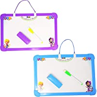 Parteet Educational Combo Pack of 2 Two in One Slate with White and Black Board for Kids
