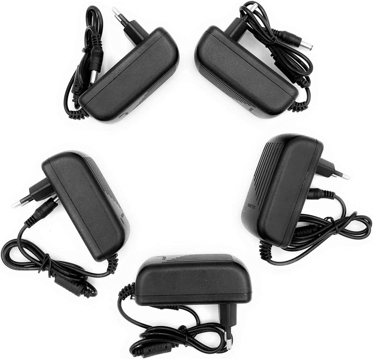 5 X Alimentatore Da 2 Ampere 12 Volt Per Telecamera E Striscia A Led