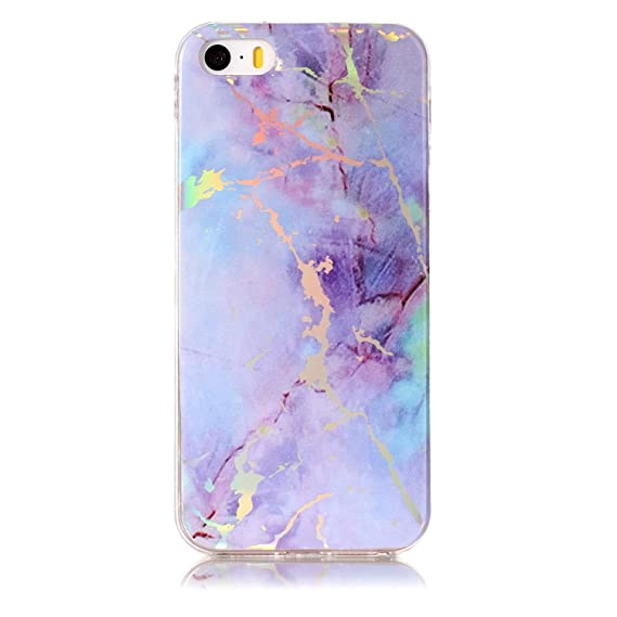 amazon com iphone 6 holographic marble case, iphone 6s purple opal