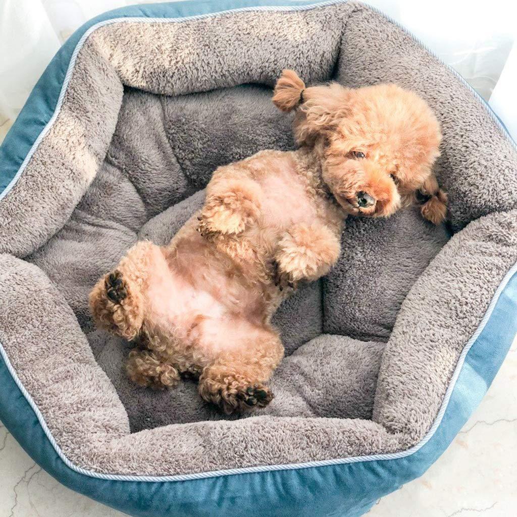 ... Ante Pequeño Medio Mantener Cálido Cama de Gato Sofá Sofá Cama de Dormir Redonda Colchón de Felpa Productos para Mascotas para Bulldog francés Peluche: ...