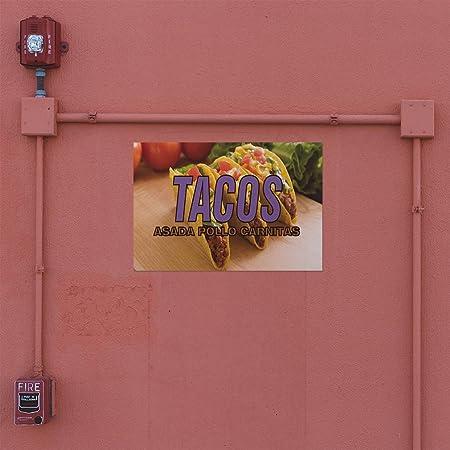 Amazon.com : Decal Sticker Tacos Asada Pollo Carnitas Food ...