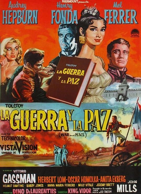 WAR AND PEACE MOVIE POSTER 1956 Henri Fonda VINTAGE 8