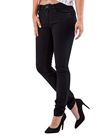 JACQUELINE de YONG JDY by ONLY Damen Jeans Skinny Low Holly Jeans Black NOOS  DNM Stretch schwarz  Amazon.de  Bekleidung b337538abb