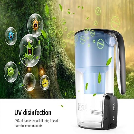 BABIFIS Smart UV Desinfección Multi Efecto Filtros de Agua Pitcher ...