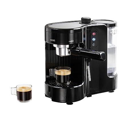 Cafetera Maquina de Cafe Expresso Capuccino Vapor Ajustable Expreso Express y compatible capsulas 6050